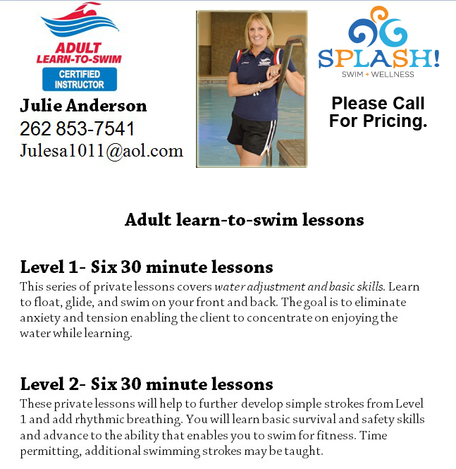 Adult Private Swimming Lessons