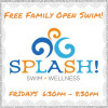 SPLASH free family open swim spring 1 2016