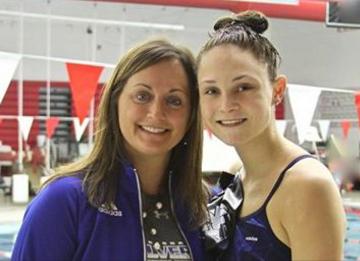 Alivia & Her Swimming Coach