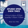 splash 2018 winter open swim times