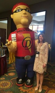 Kimberly with Safer 3 Water Mascot